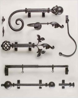 Custom Wrought Iron Curton Rods