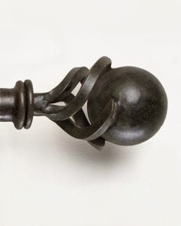 Ball in Clasp Finial