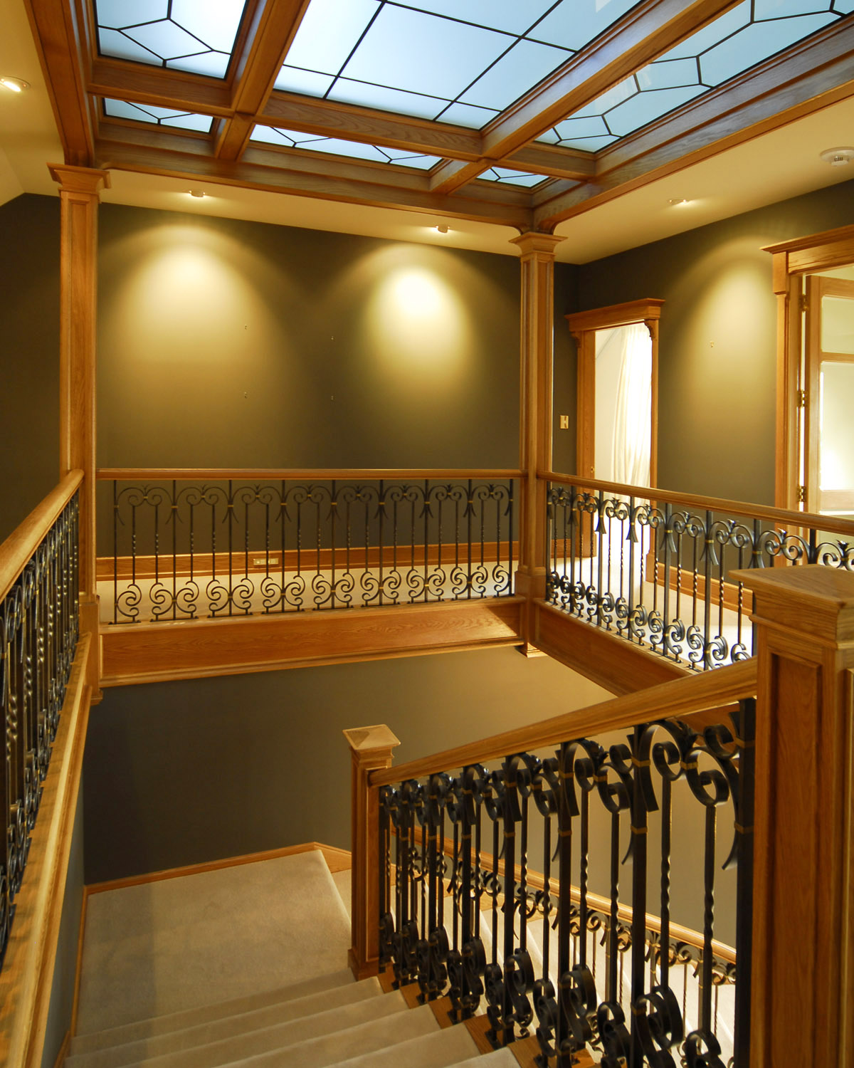 Wrought Iron Balustrade & Skylight
