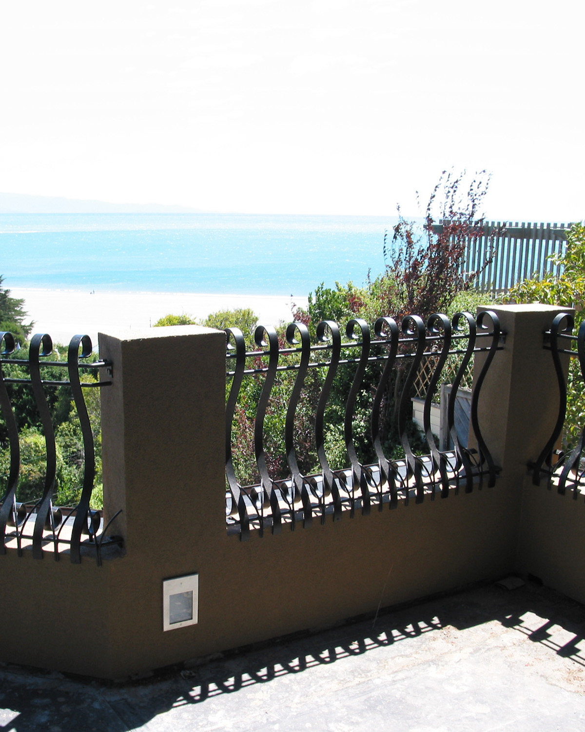 Bowed Wrought Iron Balustrades
