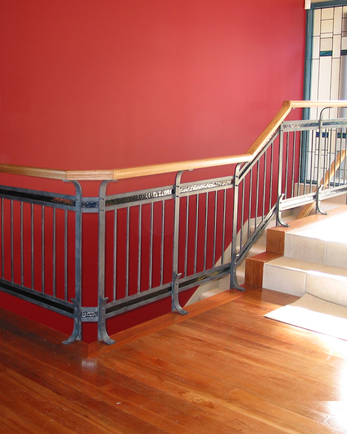 Hand forged steel balustrade