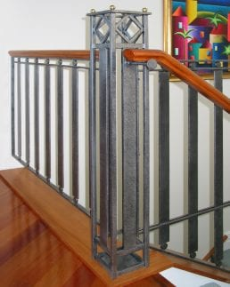 Steel balustrades, hancrafted at Tasman forge Nelson New Zealand