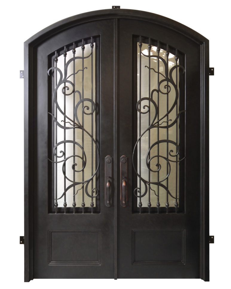 Florence handcrafted wrought iron doors