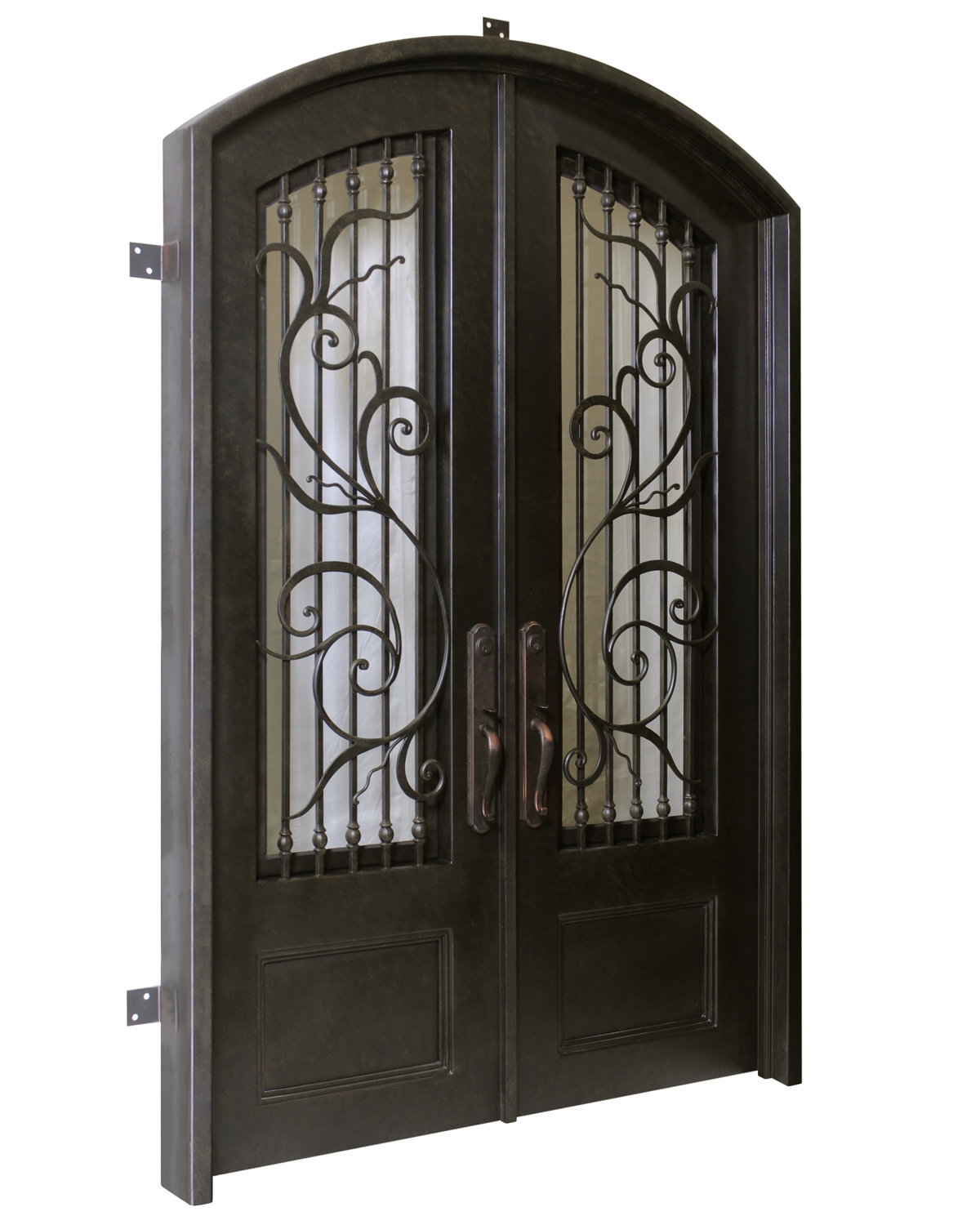 Florence handcrafted wrought iron door