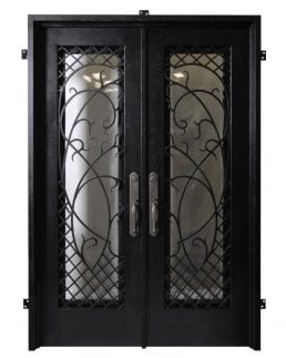 Seville handcrafted doors from Tasman Forge