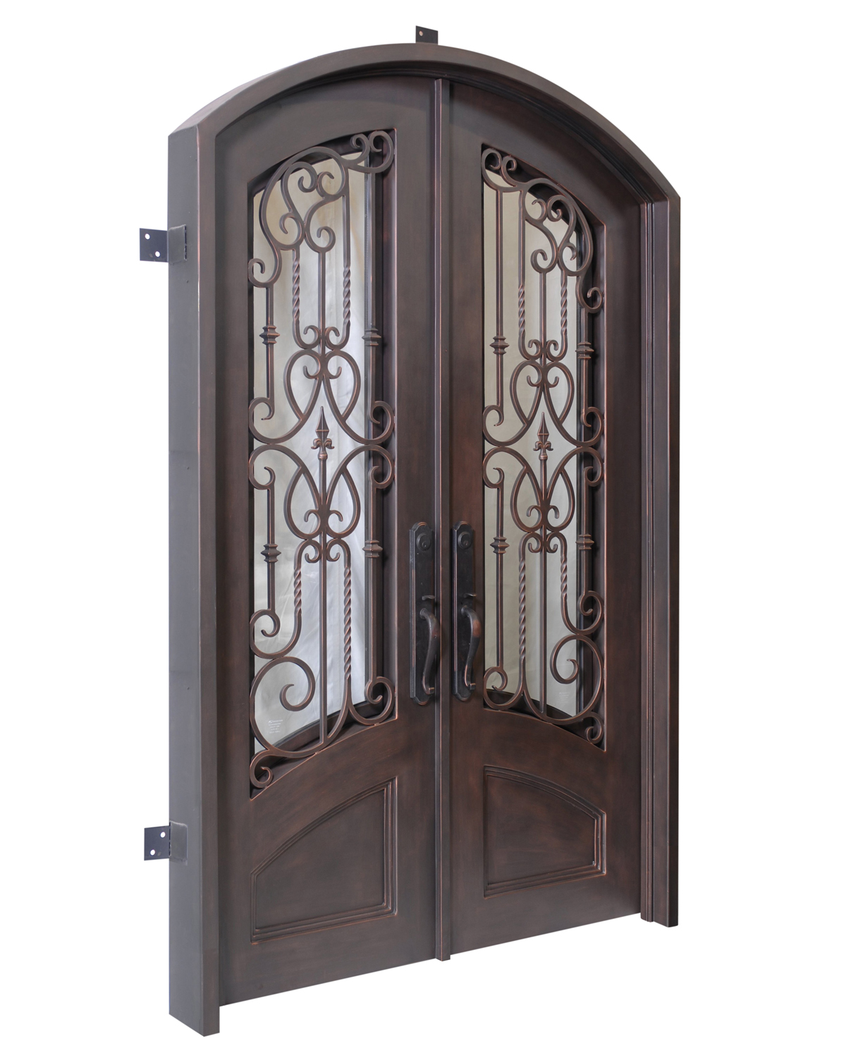 Verona hancrafted iron doors from Tasman Forge, Nelson