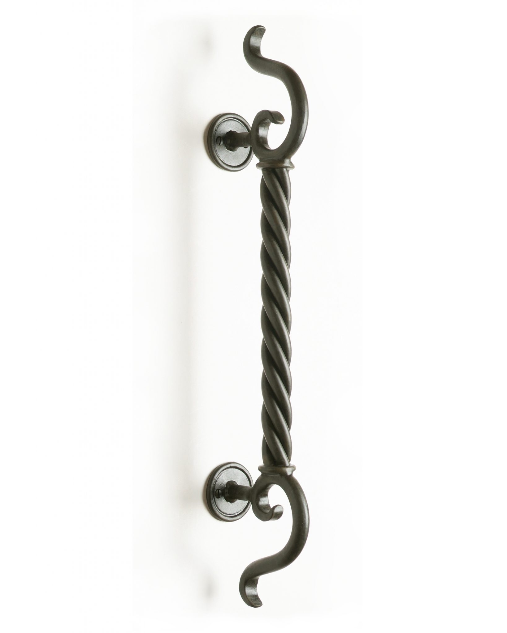Zues wrought iron door handles